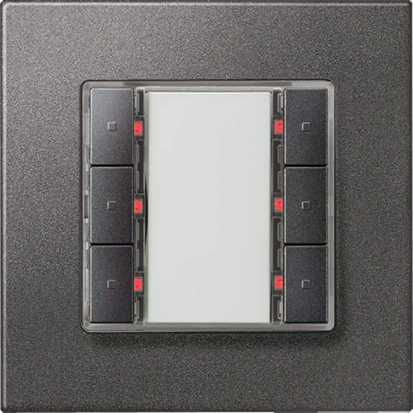 Черный металлик с кнопками