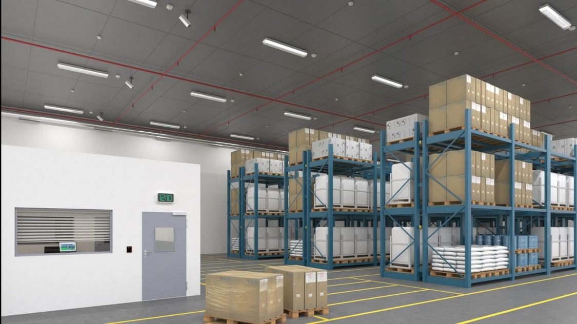 Gebäudemanagement in Lagerräumen