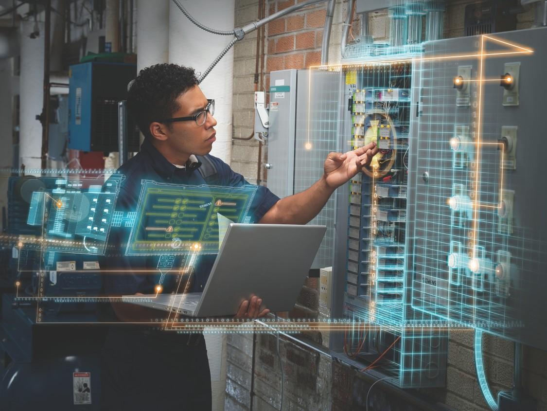 engineer working on hardware
