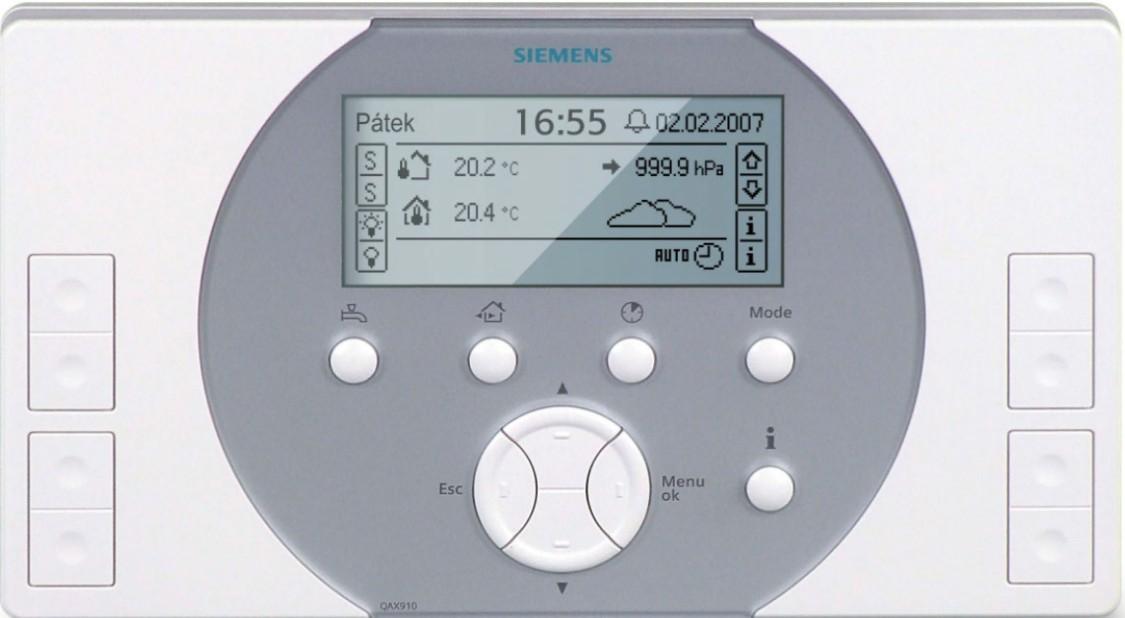 Jednoduché ovládání systému díky centrální jednotce, na jejímž displeji můžete kontrolovat všechny funkce nezávisle až ve dvanácti místnostech.