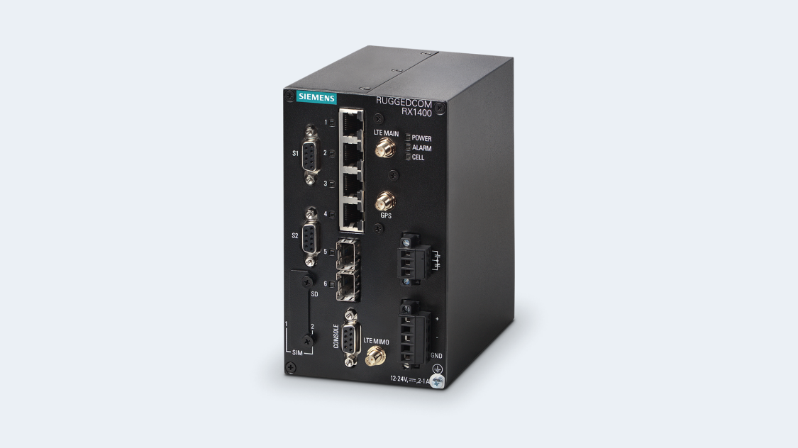 RUGGEDCOM RX1400 with the CloudConnect Industrial IoT Gateway