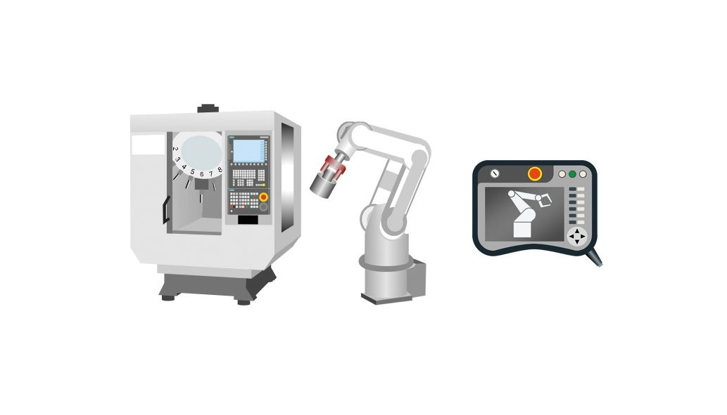 Sinumerik Run MyRobot /Easy Connect is based on the standard defined by VDW/VDMA and conveniently integrates robots quickly into a machine tool.