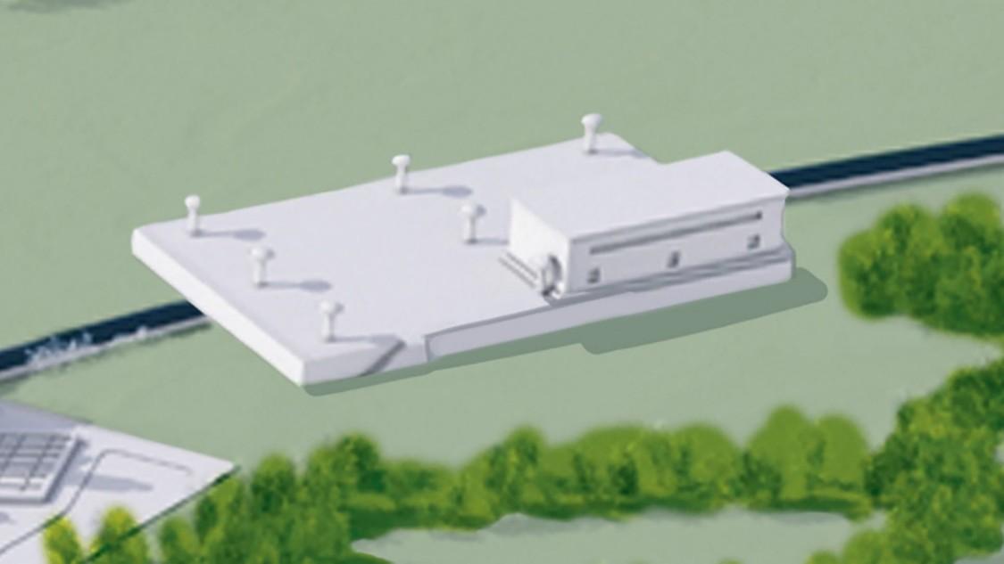 Wastewater pump station