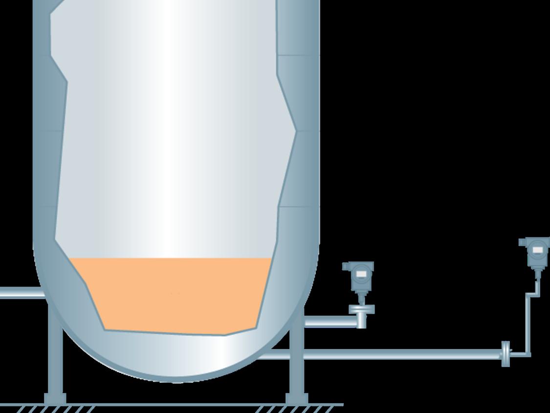 Hydrostatic level measurement in open vessels