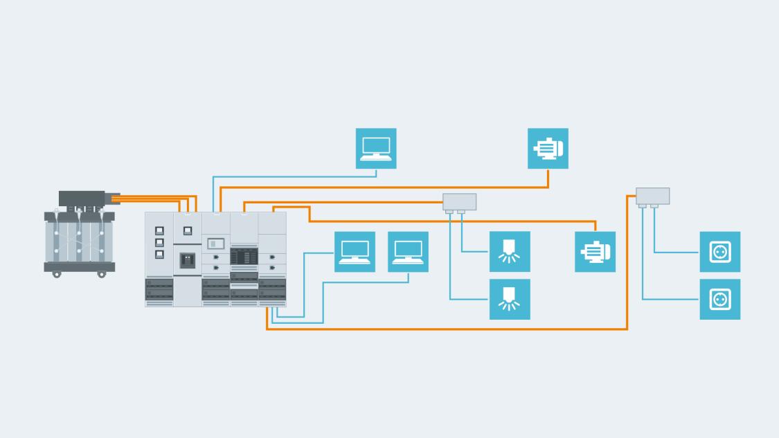 Централизованное распределение электроэнергии с использованием кабелей