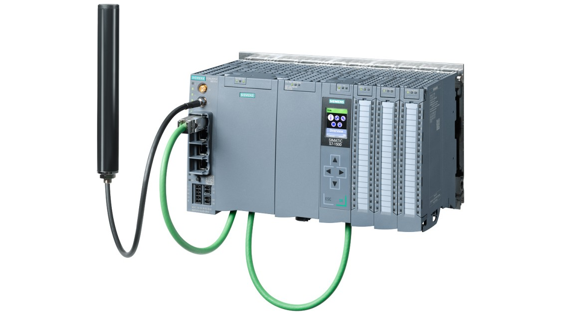 Bild einer RTU mit SIMATIC S7-1500 und Telecontrol Interface Modul TIM 1531 IRC