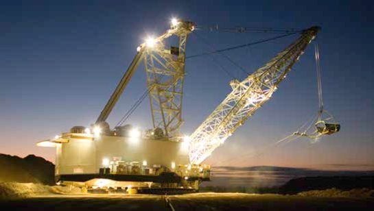 Image of a dragline