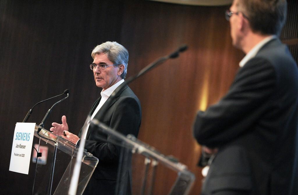 Pressekonferenz Siemens und Alstom
