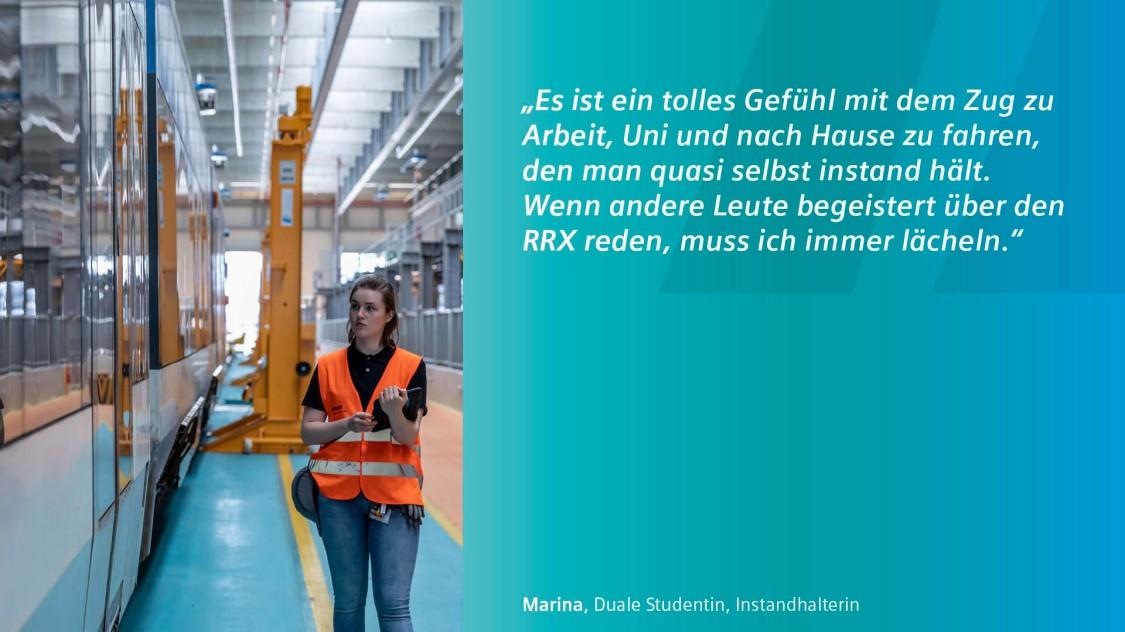 Bild von Marina Werkstudentin bei Siemens Mobility
