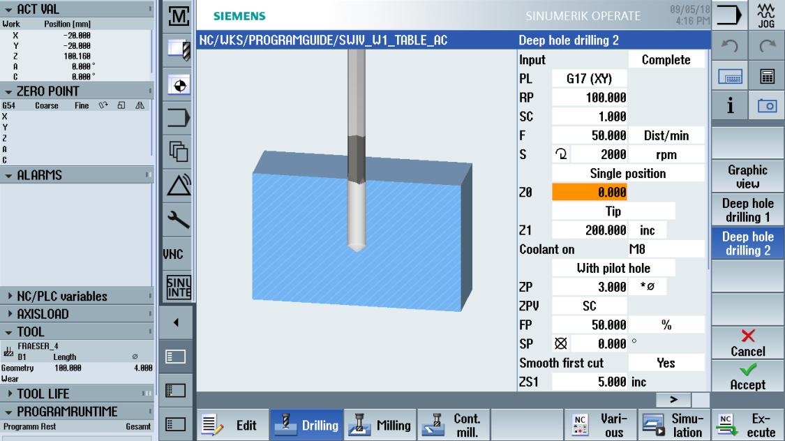 sinumerik machining - programming methods