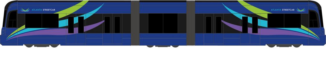 Bonde S70 ultrabaixo - vista lateral