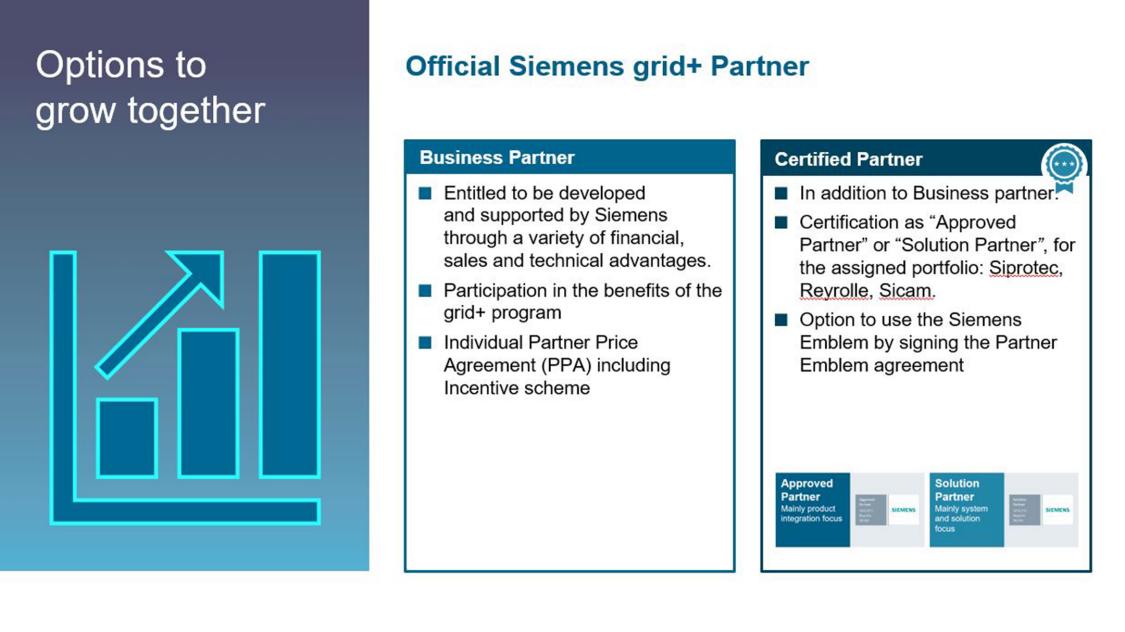 grid+ official Siemens partner