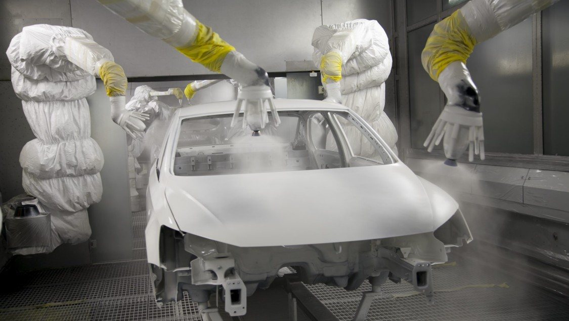 Industrial networks in the automotive industry, e.g. paint shop