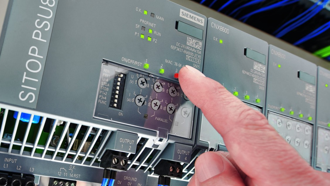 信頼性の高いSITOP PSU8600電源システムが、高可用性を実現します。