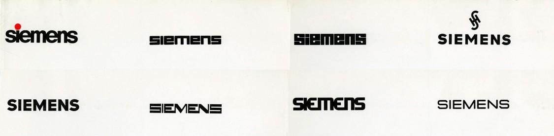 Siemens logo studies, 1970