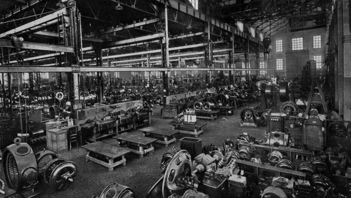 Krise überwunden – Fertigungshalle in der Fábrica de Cornellá, 1925