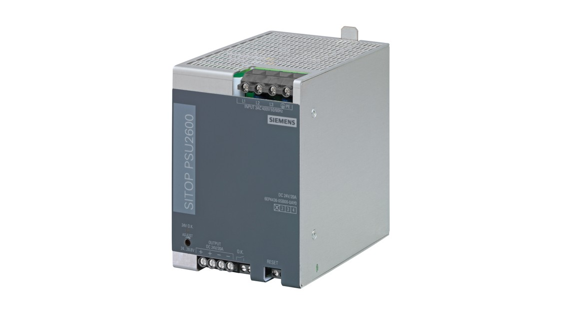 Product image SITOP PSU2600, 3-phase, DC 24 V/20 A