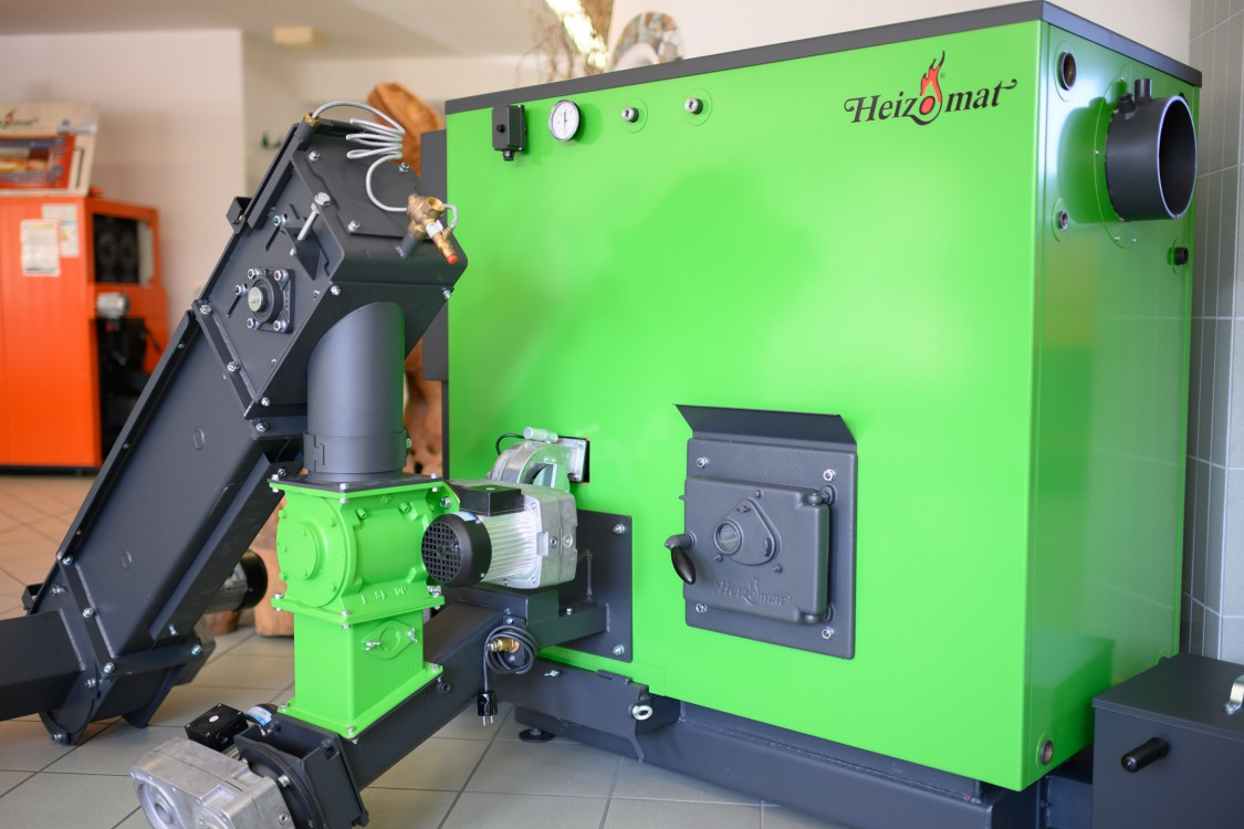 Heizomat-machine in frog-green
