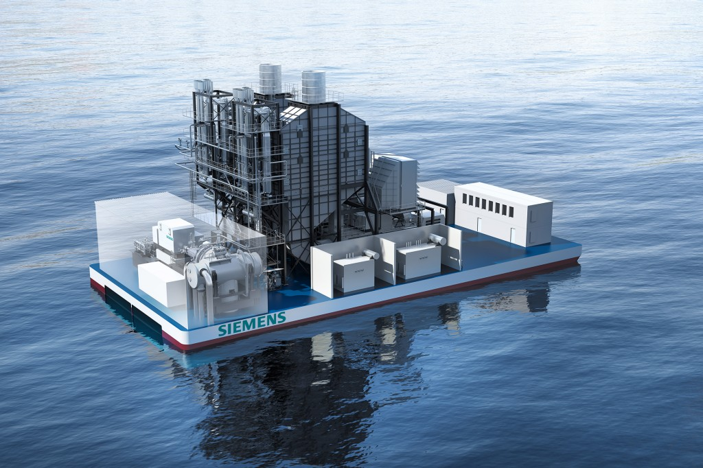 The picture shows SCC-800 SeaFloat concept- here with mid-sized SGT-800 gas turbine.