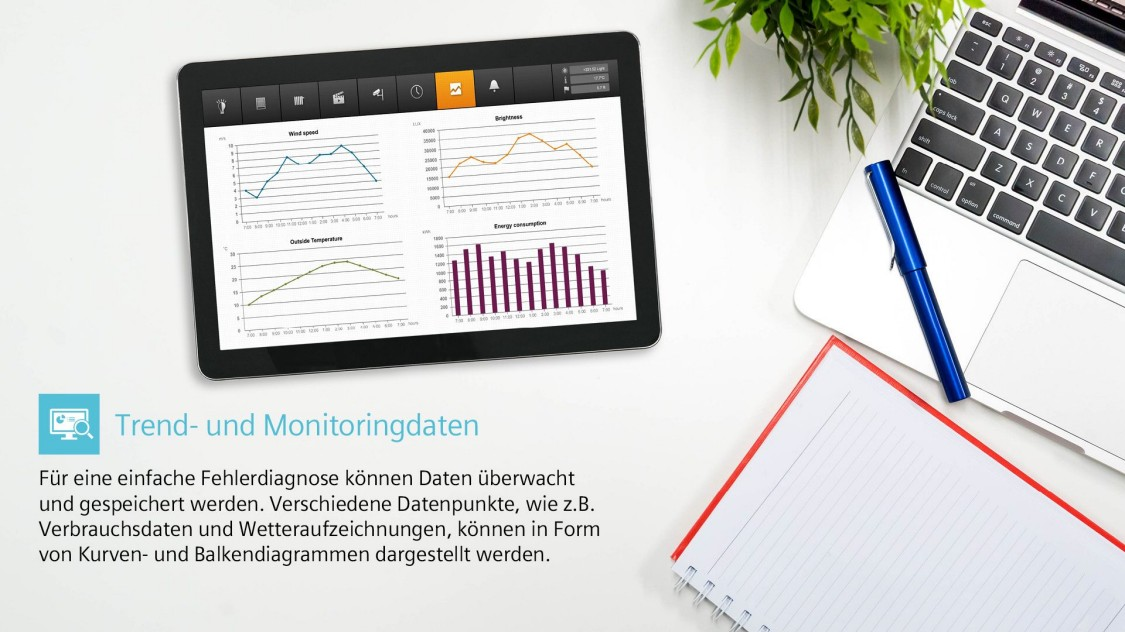 Trend and monitoring data tablet