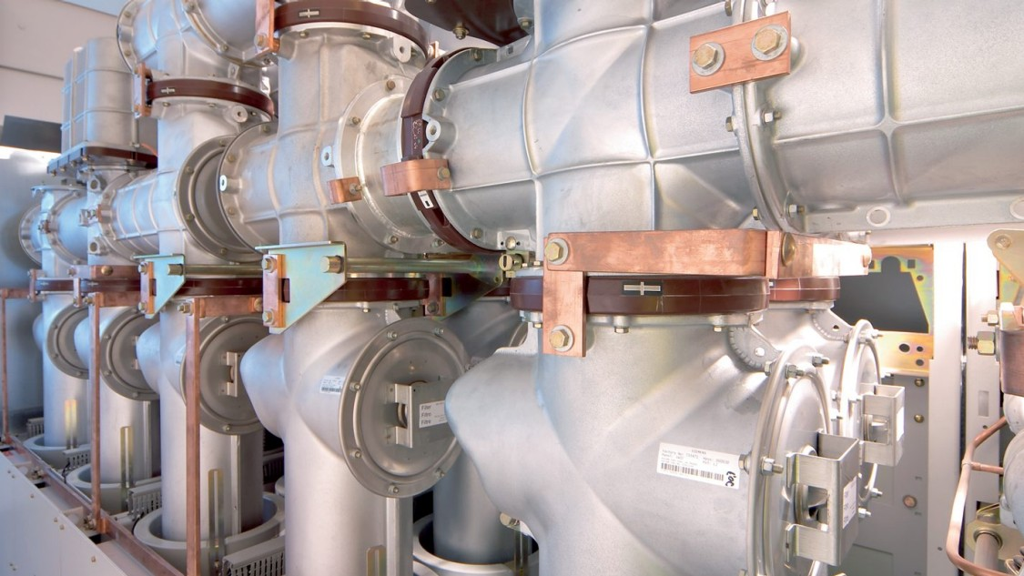 close up gas insulated switchgear