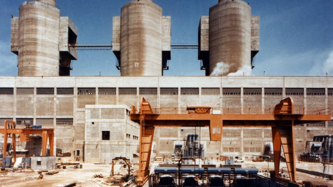 Generación de energía convencional en la Costa Brava - La central de San Adrián, 1976