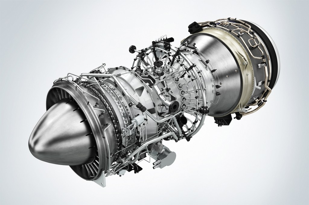 The picture shows Siemens' new aeroderivative Model SGT-A45 TR gas turbine.