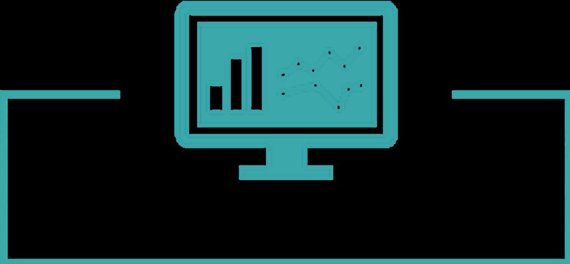 Piktogramm von intelligenter Reaktion und Verwaltung des Digital Enterprise in der Prozessindustrie