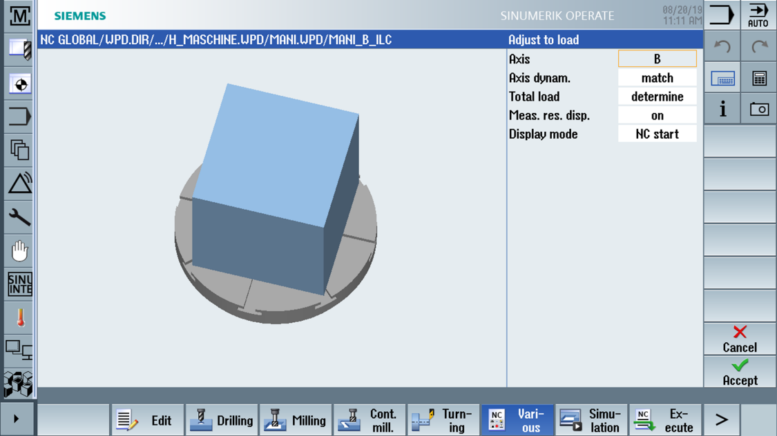 sinumerik cnc milling - Intelligent Load Control / Intelligent Dynamic Control