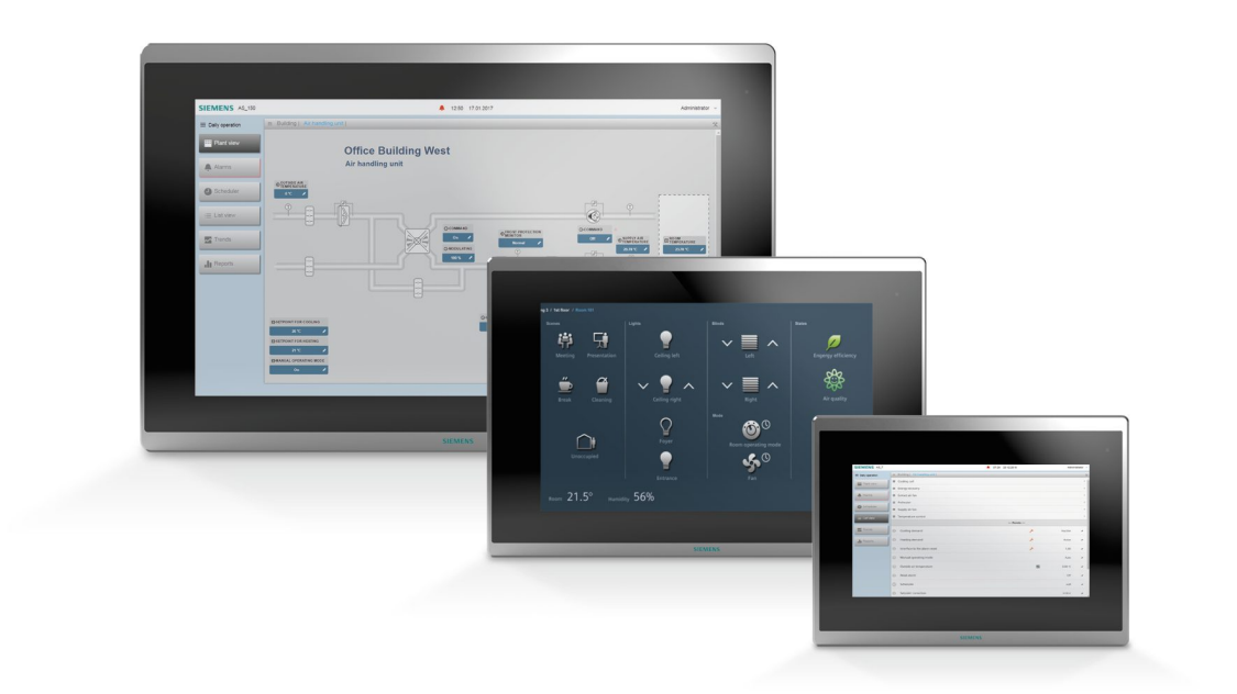 Desigo Control Point Client Touch panel