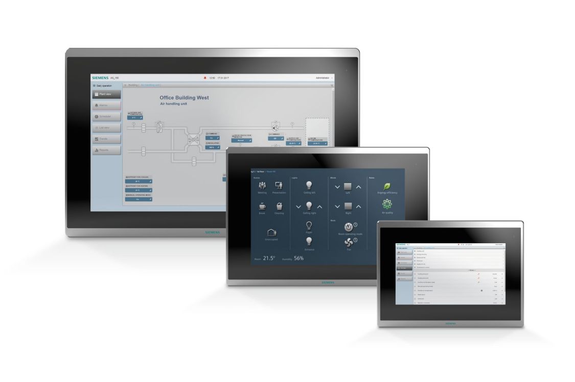 Touch panels  with IP connection