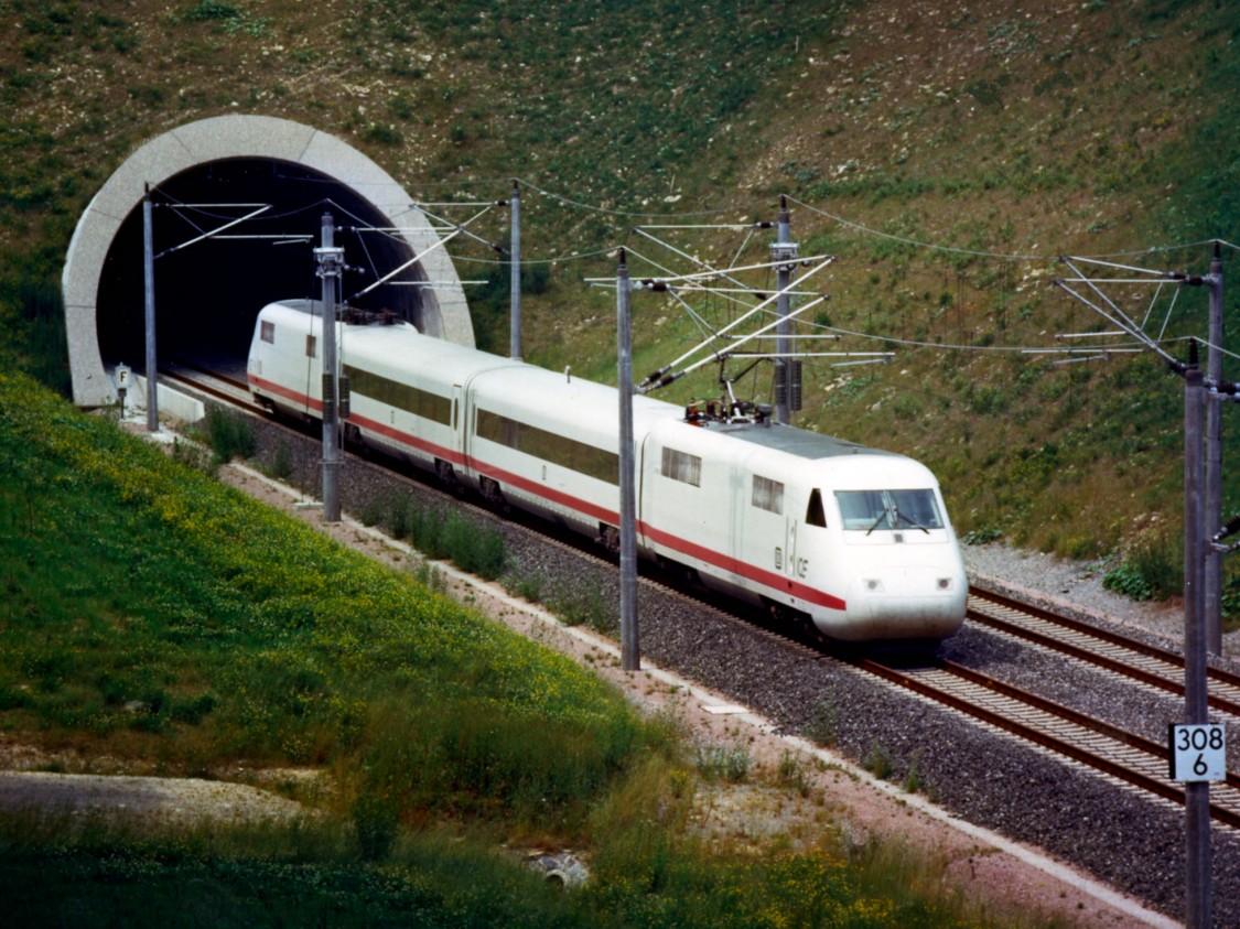 Der ICE V auf der Teststrecke, 1988