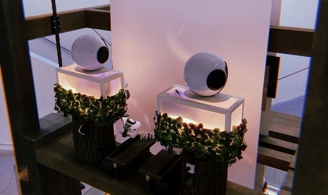 """The exhibition """" AI.ROBOTICS.DESIGN."""" addresses the field of robotics and artificial intelligence (AI) from a social, scientific and artistic perspective."""