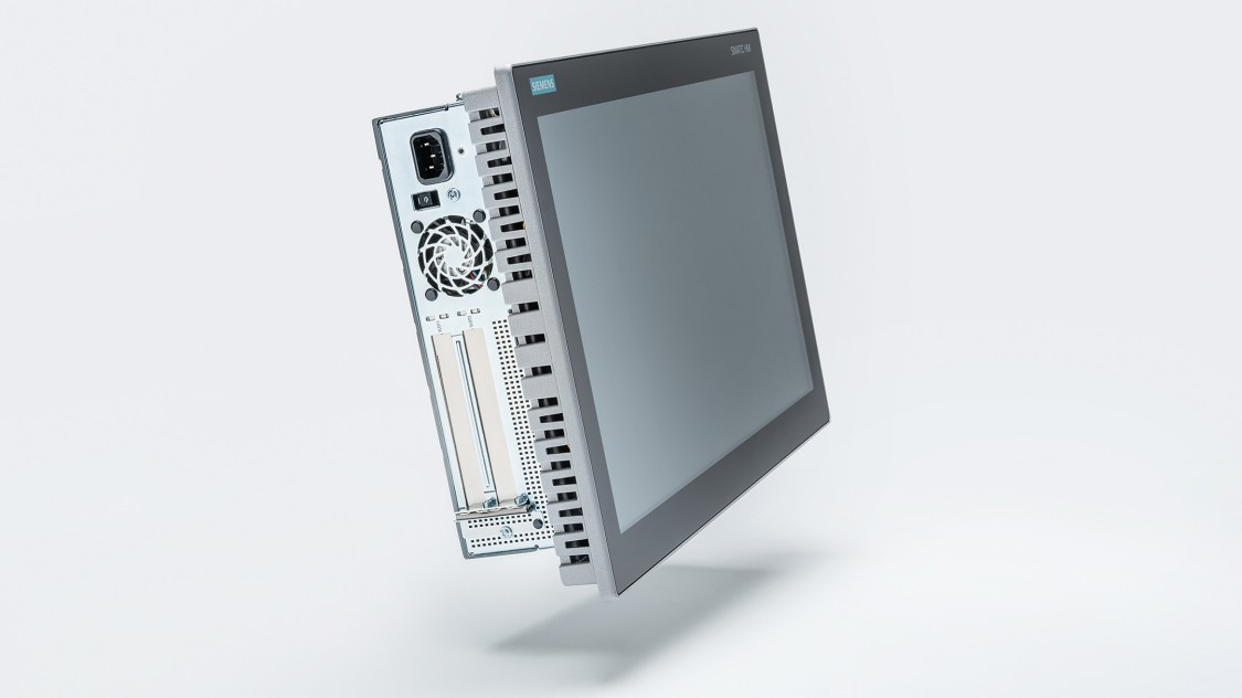 SIMATIC IPC677E, High-End Panel PC Side view