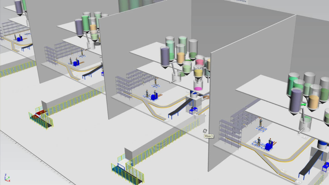 Material flow and production process optimization