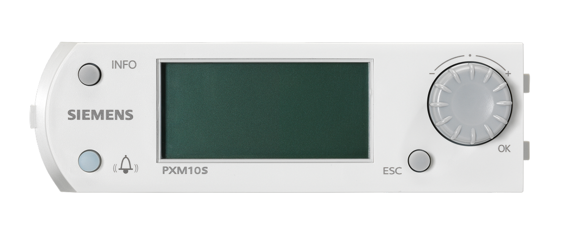 Siemens graphic display for compact building automation controllers