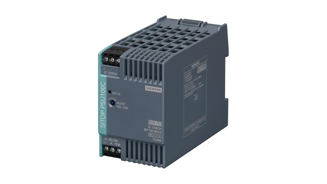 Produktbild SITOP PSU100C, 1-phasig, DC 12 V/6,5 A