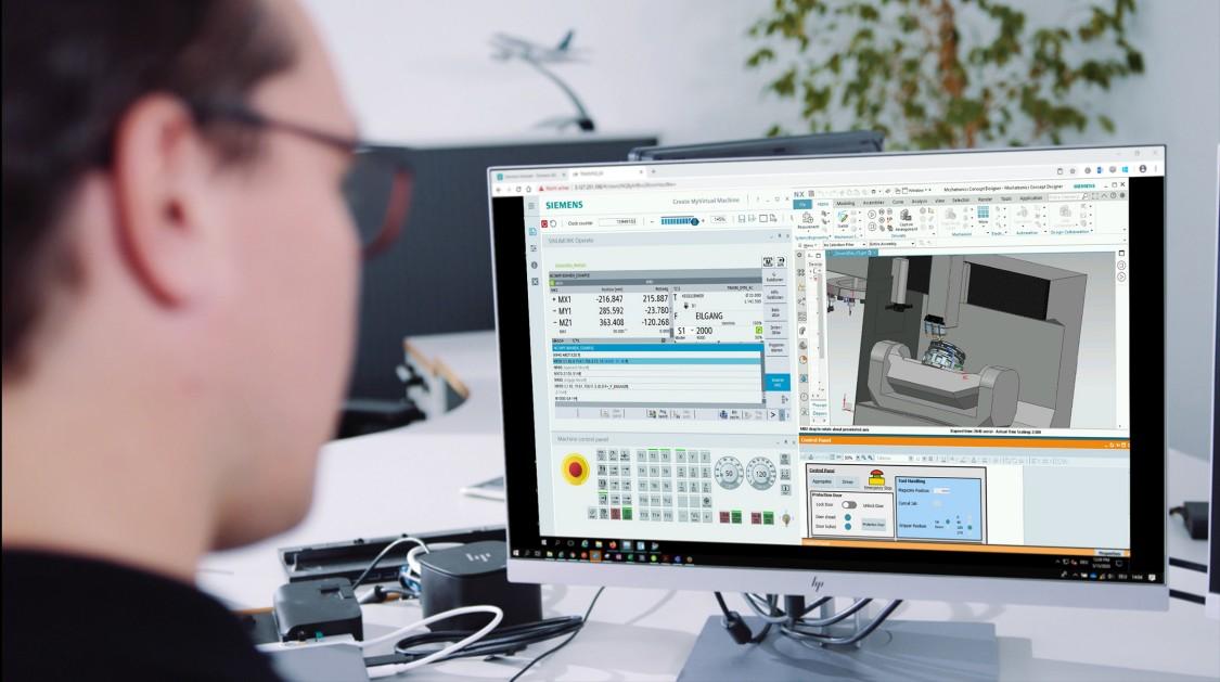 Kostenlose 30 Tage Demo-Software zum digitalen Zwilling auf einem PC im HomeOffice