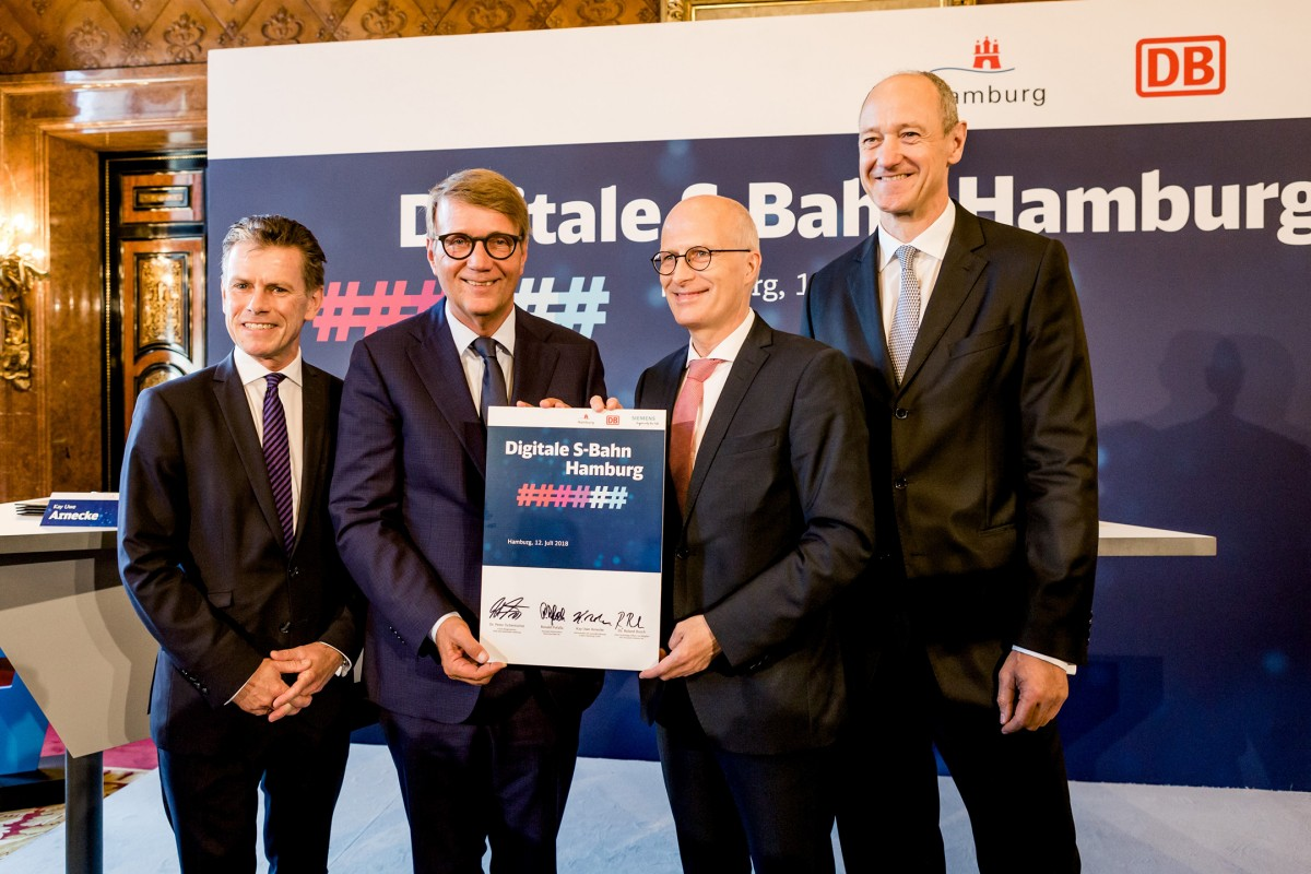 Deutsche Bahn and Siemens develop digitalized operation of the Hamburg S-Bahn