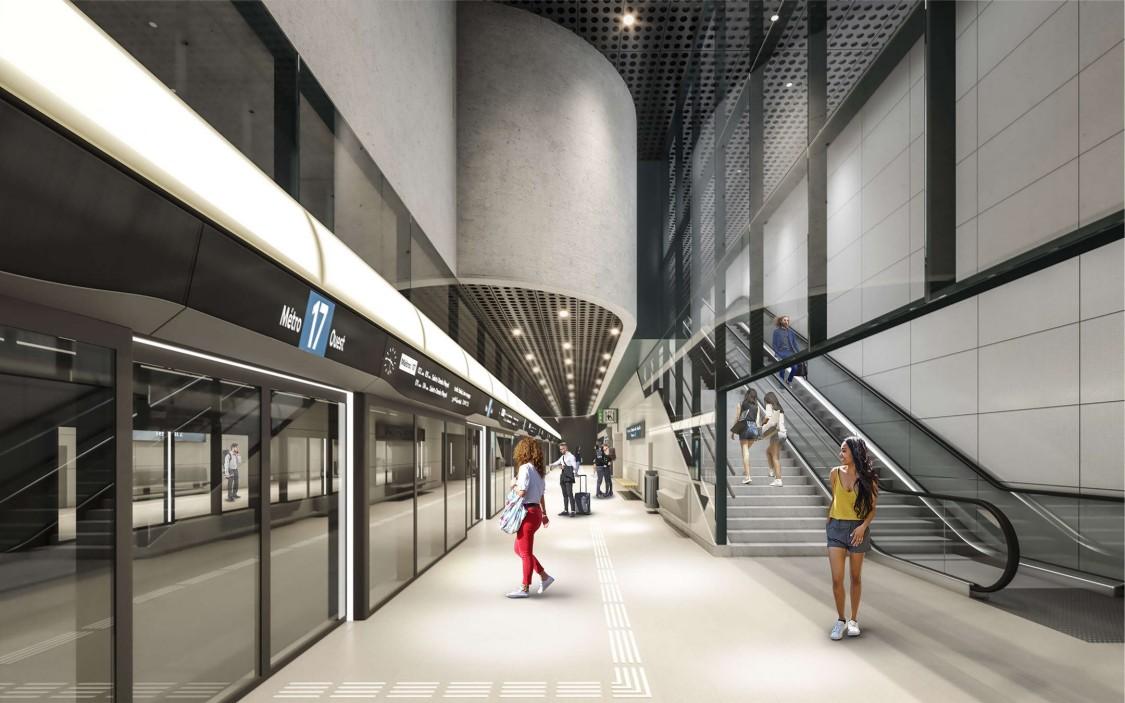 Perspective 3D de la station Charles de Gaulle T2.