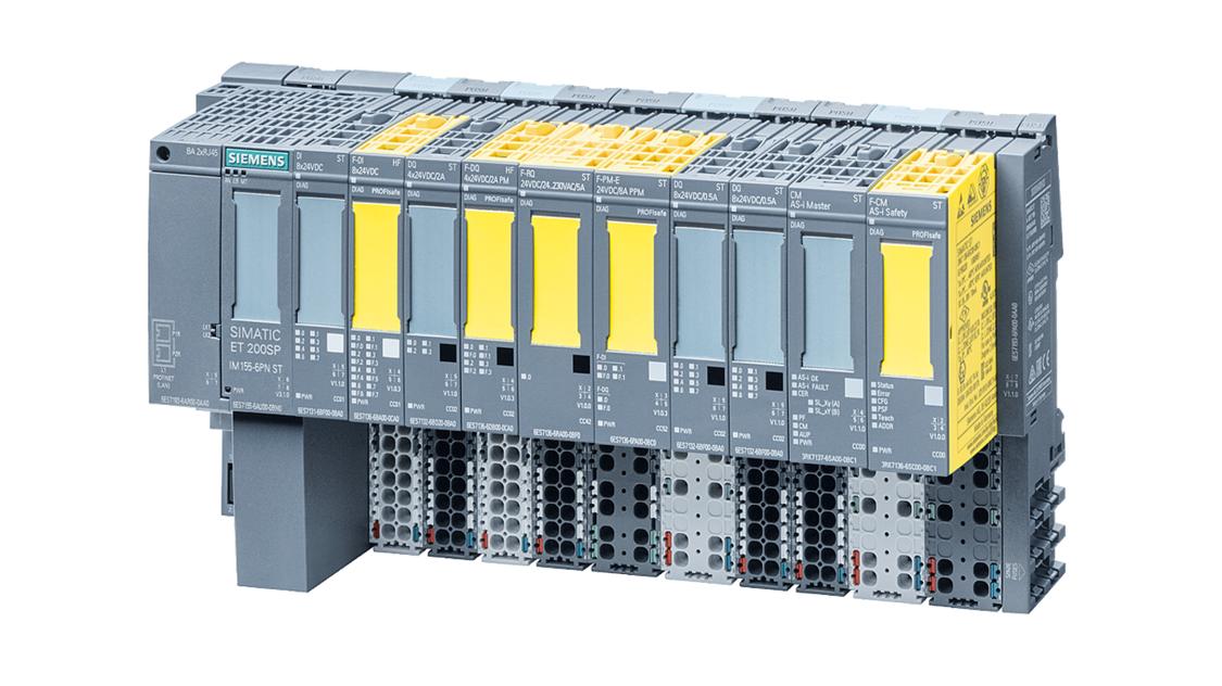 SIMATIC ET 200SP Station mit fehlersicheren IO Modulen