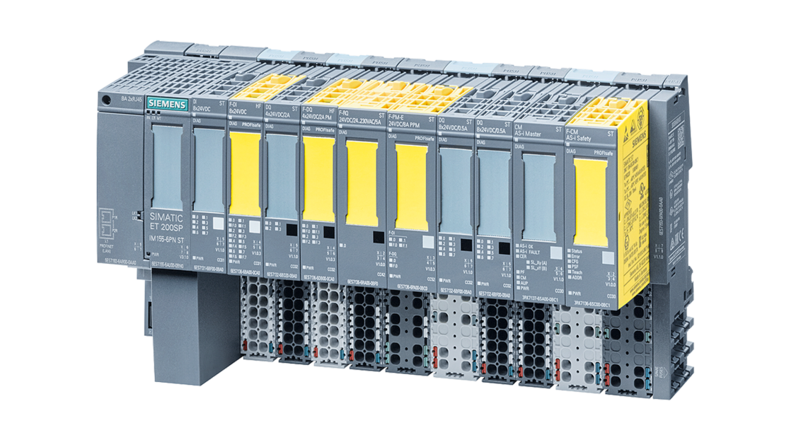SIMATIC ET 200SP station with failsafe modules