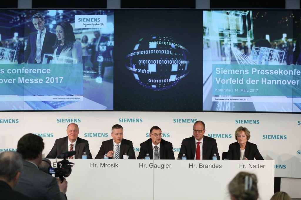 Siemens press conference ahead of the Hannover Messe 2017