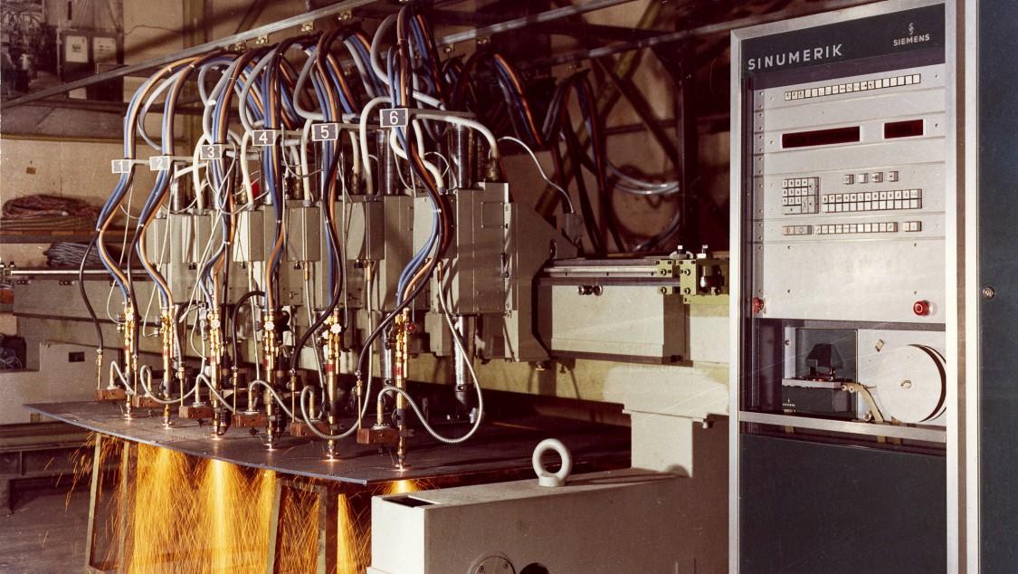 Brennschneidemaschine mit der SINUMERIK 580