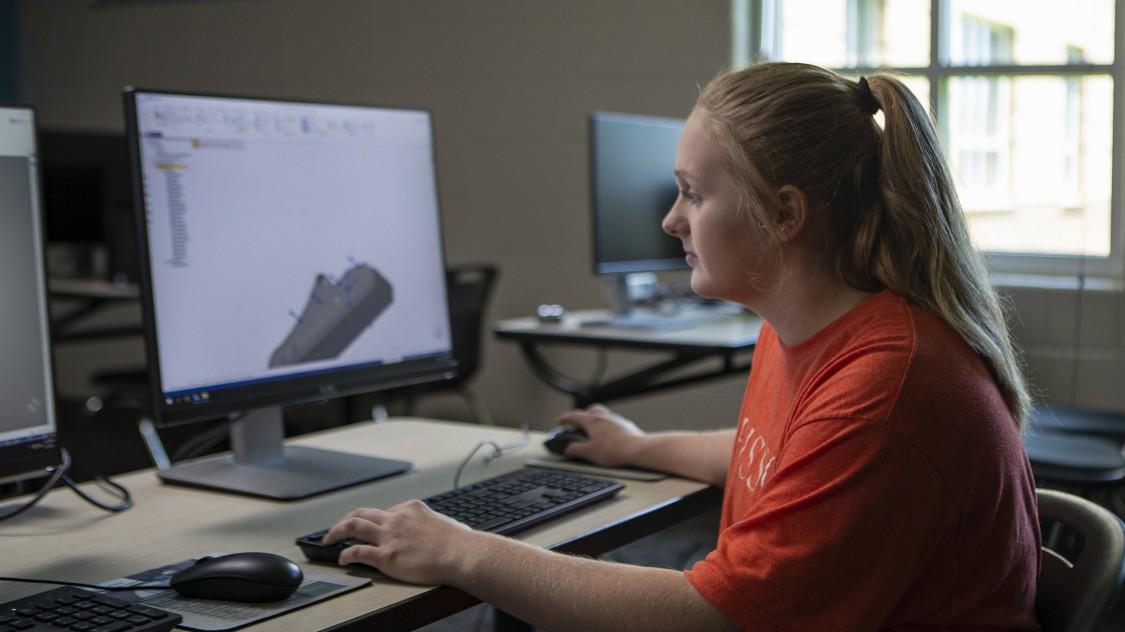 Female STEM student
