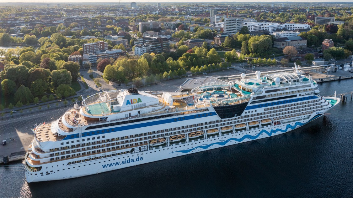 Cruise ship Aida at the Port of Kiel