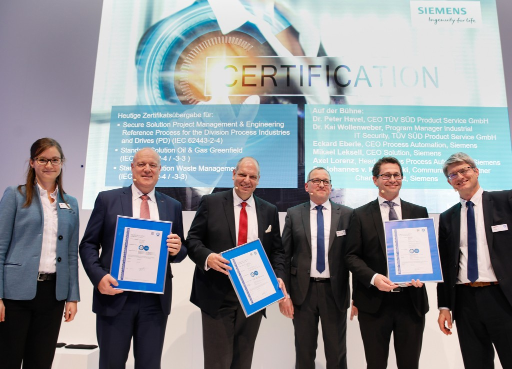 The picture shows the presentation of the certificates within the SPS IPC Drives 2018