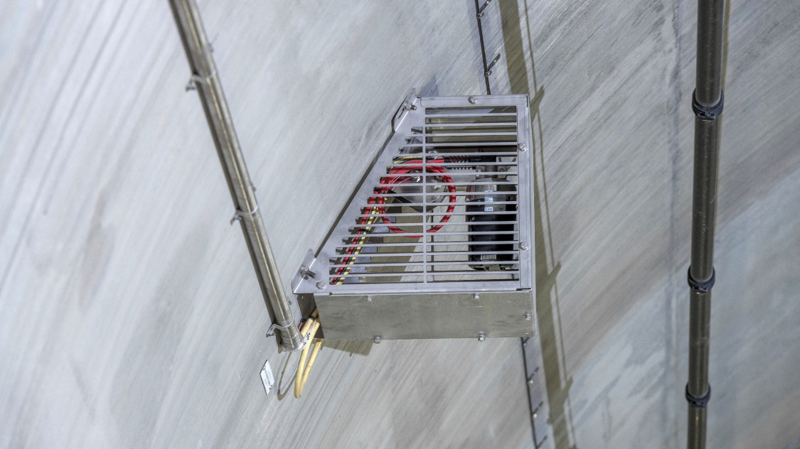 Specially designed cages protect the fire protection system