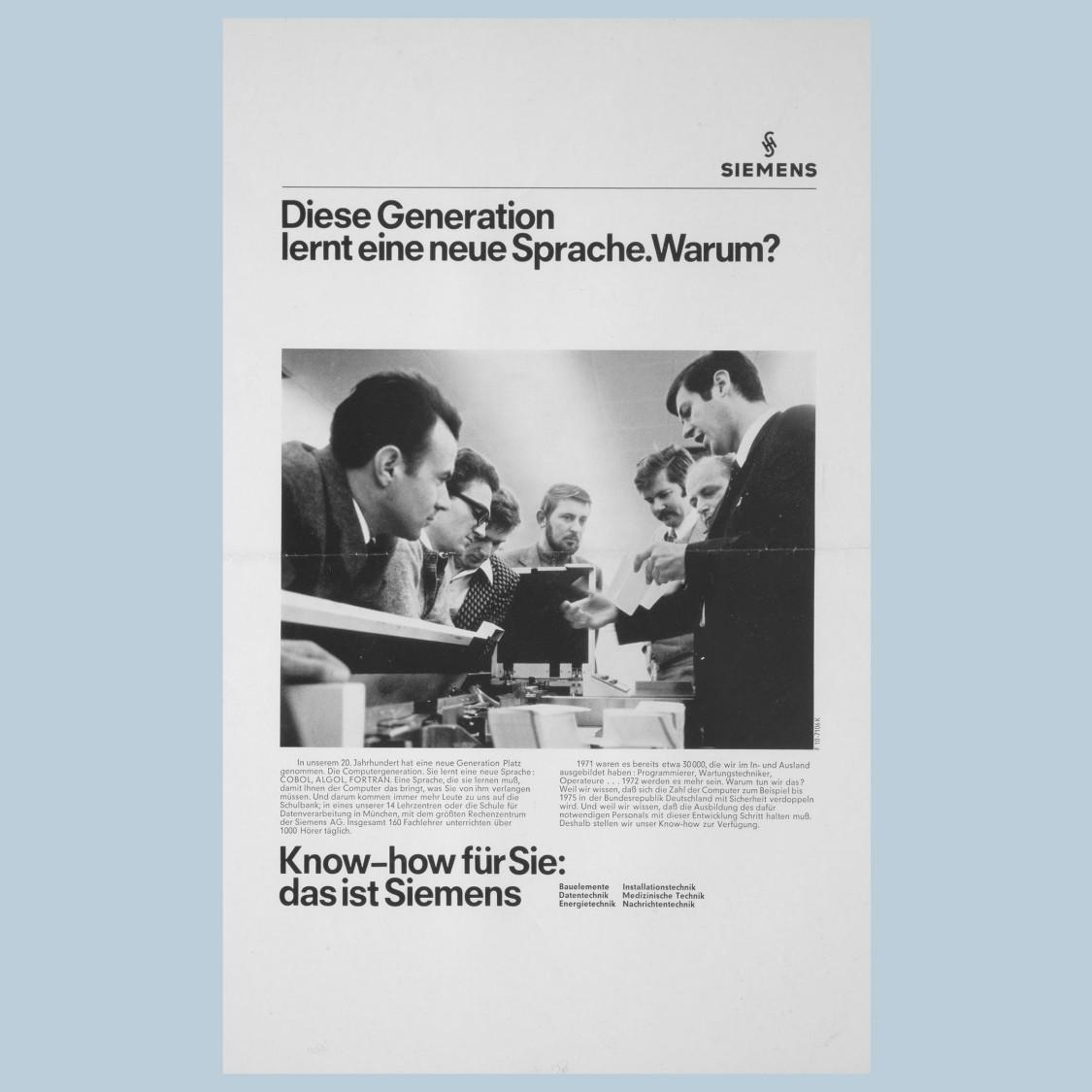 """""""das ist Siemens"""" campaign, 1969"""
