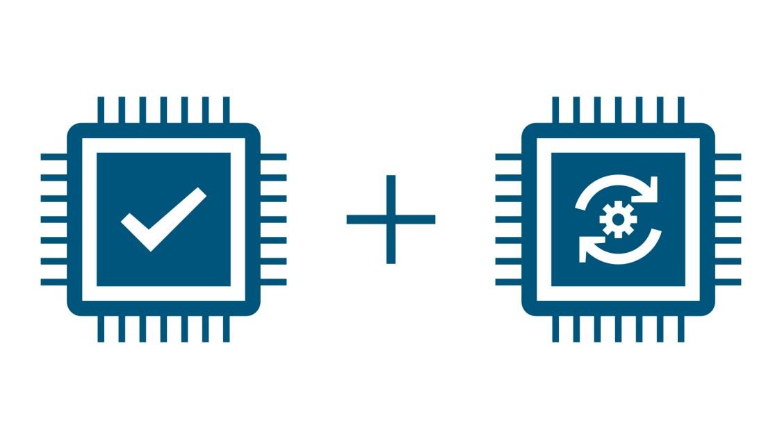 Schematische Darstellung des Protection und Application Prozessors des offenen Leistungsschalters 3WA